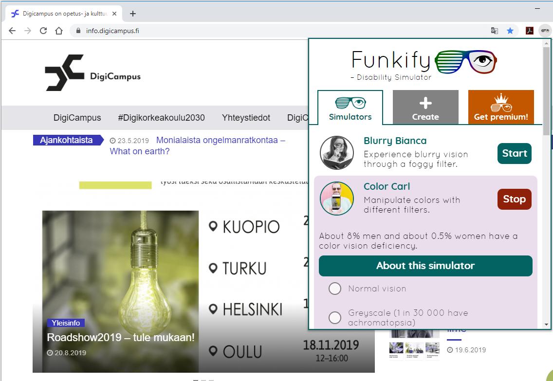 Ruudunkaappauskuva Funkify-sovelluksesta